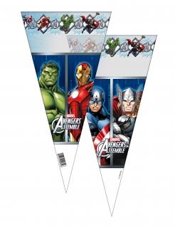 Marvel Avengers™-Süssigkeiten-Tüten 6 Stück bunt 20x40cm