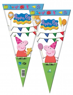Peppa Wutz™-Geschenktüten 6 Stück bunt 20x40cm