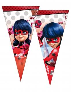 Ladybug™-Süssigkeitentüten Miraculous™-Geschenkbeutel rot 6 Stück 30x60cm