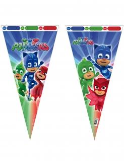PJ Masks™-Geschenktüten dreieckig Partydeko 6 Stück bunt 30x60cm