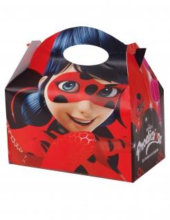 Ladybug™-Lunchboxen Miraculous™-Fanartikel 4 Stück rot 17x25cm