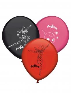Ladybug™-Latexballons 8 Stück rot-schwarz-rosa
