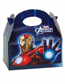 Avengers™-Geschenkbox aus Karton Partydeko 16x10,5x16cm