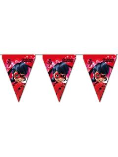 Ladybug™-Girlande Miraculous™-Papiergirlande rot 3m