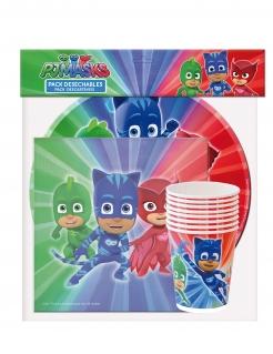 PJ Masks™-Geburtstags-Geschirrset 36-teilig bunt