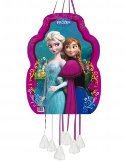 Anna und Elsa-Piñata Frozen™ Partydeko türkis-pink 36x46cm