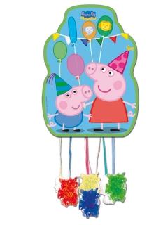 Peppa Wutz™-Piñata Partydeko bunt 36x46cm
