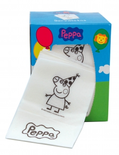 Peppa Wutz™-Serviettenbox 190 Stück bunt 13x10x10cm