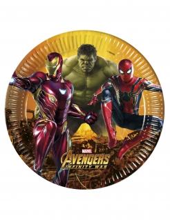 Marvel Avengers Infinity War™-Pappteller 8 Stück bunt 23cm