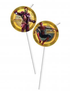 Avengers™-Strohhalme Infinity War™ 6 Stück bunt