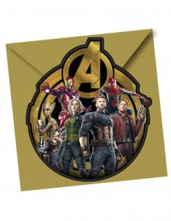 Avengers™ Einladungen und Umschläge 12-teilig bunt