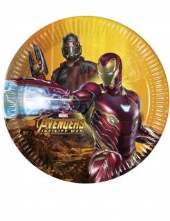 Avengers™-Pappteller Infinity War™ Tischdeko 20cm