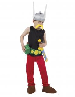 Asterix™-Lizenzkostüm für Kinder Gallier-Kinderkostüm schwarz-rot