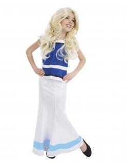 Falbala™-Kinderkostüm Lizenzartikel weiss-blau