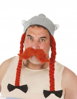 Obelix™-Kopfbedeckung Kostüm-Accessoire grau-orange
