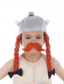 Obelix™-Kinderhelm mit Zoepfen Lizenzartikel grau-orange