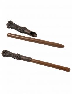 Zauberstab-Kugelschreiber mit Leuchtfunktion Harry Potter™-Fanartikel braun 23cm