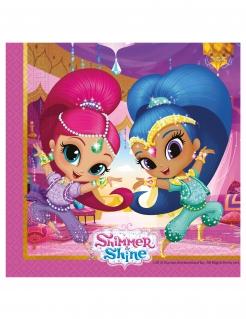 Shimmer and Shine™-Servietten Tischdeko 20 Stück bunt 33x33cm