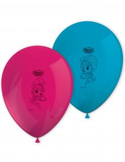 Shimmer and Shine™-Luftballons Partydeko 8 Stück pink-türkis