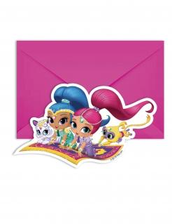 Shimmer und Shine™ Einladungskarten und Umschläge 12-teilig bunt 14x9cm