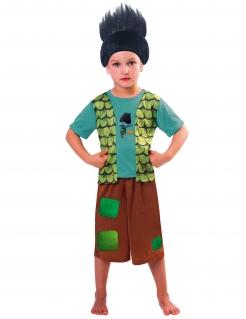 Trolls™ Branch™-Kostüm für Jungen Karneval braun-türkis