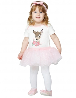 Bambi™-Kostüm für Babys weiss-rosa
