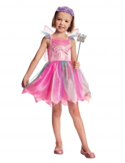 Feenkostüm für Mädchen Fasching pink-grün