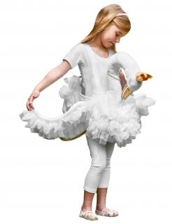 Schwanenkostüm Huckepackkostüm für Mädchen Karneval weiss