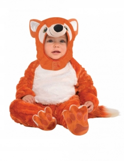 Fuchskostüm für Babys Karneval rotbraun