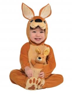 Känguru-Kostüm für Babys Fasching braun