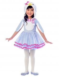 Pinguin-Kostüm für Mädchen Fasching blau-pink
