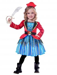 Piratenkostüm für Kinder Karneval rot-blau