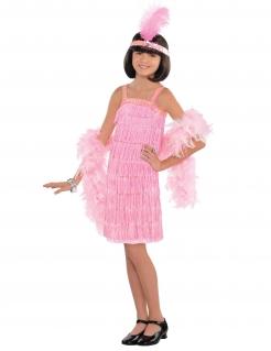 20er Jahre-Kostüm für Kinder Fasching rosa