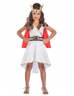 Göttinen-Kostüm für Mädchen Karneval weiss-rot-gold