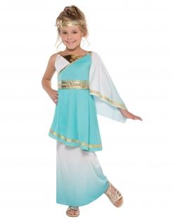 Venusgöttin-Kostüm für Kinder Karneval türkis