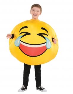 Lachgesicht-Kostüm LOL für Kinder Karneval gelb