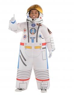Astronauten-Kostüm für Kinder aufblasbar Fasching weiss-bunt