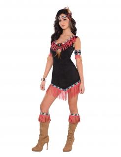 Indianerin-Kostüm sexy für Damen bunt