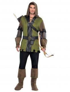 Bogenschützen-Kostüm für Herren grün-braun-schwarz