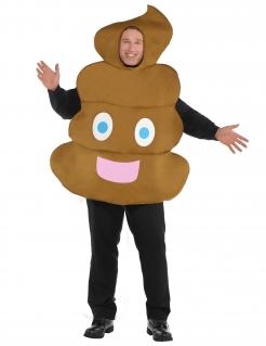 Emoticon-Kostüm für Erwachsene braun
