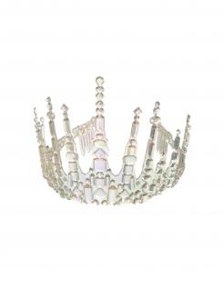 Schneekönigin-Krone Eis-Krone für Erwachsene transparent