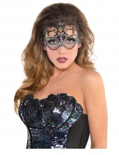 Meerjungfrauen-Maske für Damen Kostüm-Accessoire schwarz-blau