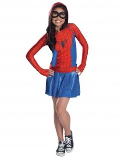 Spider Girl™ Kinderkostüm für Mädchen blau-rot