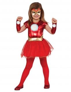 Iron Lady™ Lizenzkostüm für Mädchen rot-goldfarben