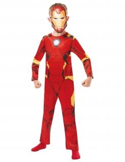 Iron Man™-Kostüm Marvel™ für Kinder Fasching rot-gelb