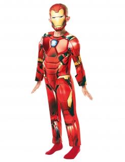 Iron Man™-Deluxekostüm für Kinder Karneval rot-gelb