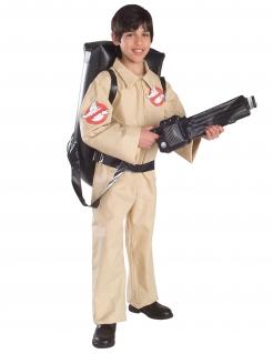 Ghostbusters™-Kostüm für Jungen mit Rucksack und Waffe beige-schwarz