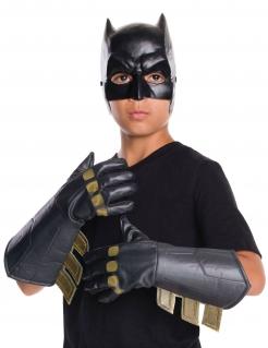 Batman™-Handschuhe für Kinder Batman vs. Superman™ Accessoire schwarz-gold