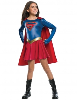 Supergirl™ Mädchen-Lizenzkostüm blau-rot-goldfarben