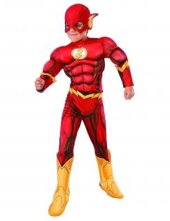Muskulöses Flash™-Kostüm für Kinder Superhelden-Kostüm rot